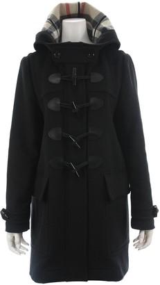 Burberry Black Wool Coats