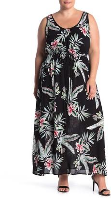 City Chic Oahu Tie Floral Print Maxi Dress (Plus Size)