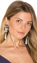 Anton Heunis Crystal Drop Earring in Blue.