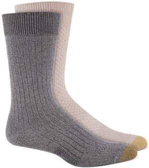 Gold Toe Men's 2-Pk. Basketweave Crew Socks