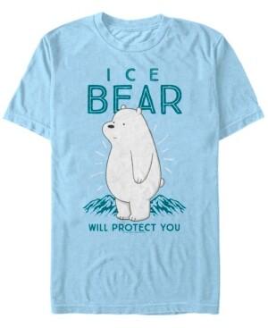 Fifth Sun Men's We Bare Bears Ice Bear Will Protect You Short Sleeve T- shirt