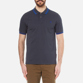 Paul Smith Men's Tipped Polo Shirt Blue