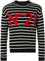 No.21 logo print sweatshirt - men - Cotton - L