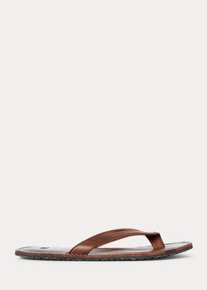Ralph Lauren Leather Flip-Flop Sandal