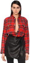 Balmain Plaid Cotton Flannel Shirt