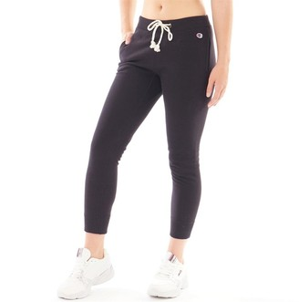 Champion Womens Reverse Weave Cuffed Track Pants Black