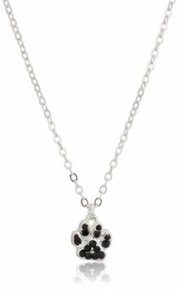 Pet Friends Women's Pave Spray Paw Pendant Necklace