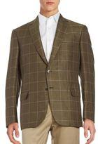 Brioni Regular-Fit Windowpane Linen & Silk Sportcoat