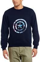 Marvel Men's Avengers Assemble Captain America Montage Symbol Long Sleeve Sweatshirt