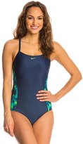 Nike Blurred Lines Crossback Tank One Piece Swimsuit 8137419