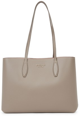 Kate Spade All Day Large Grey Leather Tote