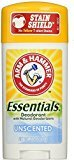 Arm & Hammer Essentials Deodorant with Natural Deodorizers, Unscented - Buy Packs and SAVE (Pack of 6)
