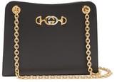 Gucci Zumi Small Leather Shoulder Bag - Womens - Black