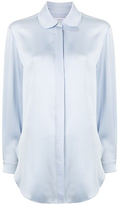 Racil Round-Collar Satin Shirt