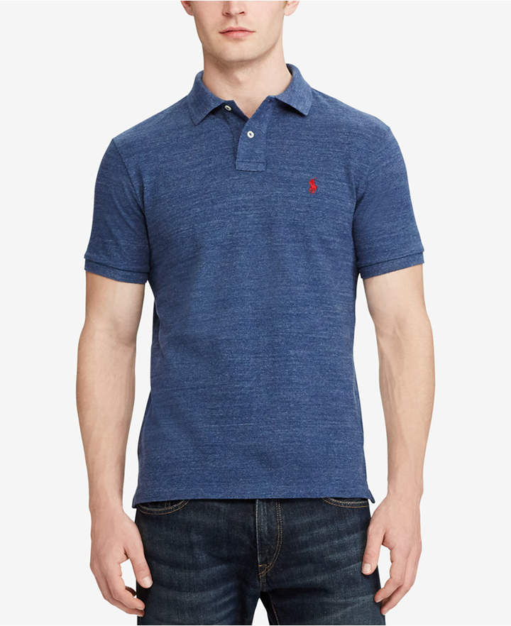 Polo Ralph Lauren Men Custom Slim-Fit Mesh Polo Shirt