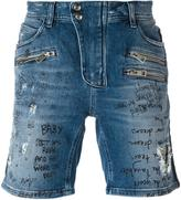 Just Cavalli distressed denim shorts