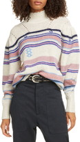 Etoile Isabel Marant Georgie Stripe Balloon Sleeve Sweater