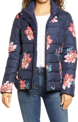 Joules Highgrove Reversible Quilted Floral Puffer Jacket