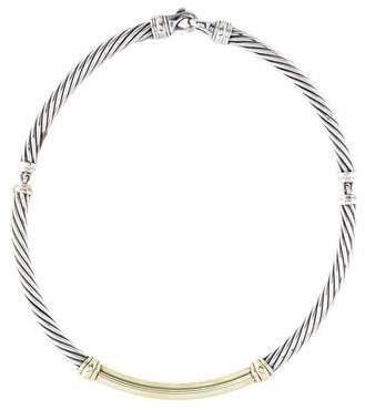 David Yurman Two-Tone Metro Cable Necklace