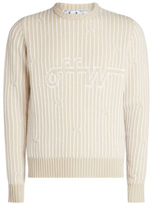 Off-White Cable-Knit Sweater