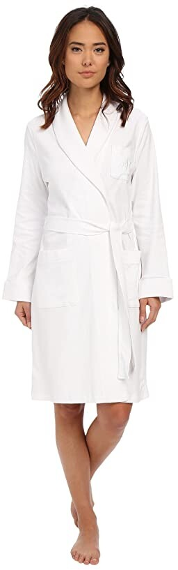 Lauren Ralph Lauren Essentials Quilted Collar and Cuff Robe Women's Robe