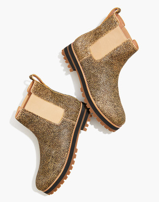 Madewell The Ivy Chelsea Boot in Mini Dot Calf Hair