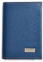 Salvatore Ferragamo Men's 'Revival' Leather Card Case - Blue