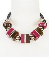 Trina Turk Mulholland Mod Faux-Leather Collar Necklace