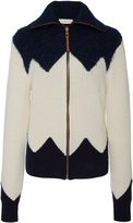 Tory Burch Hannah Zip Up Cardigan