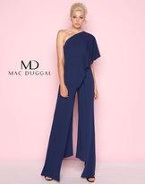Mac Duggal 25737L Draped Chiffon Asymmetrical Jumpsuit