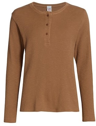 RE/DONE Thermal Henley Top