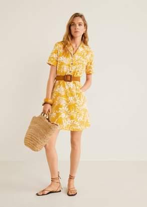 MANGO Flowers cotton dress