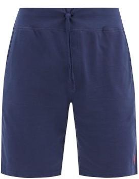 Polo Ralph Lauren Logo-embroidered Cotton-pique Shorts - Navy