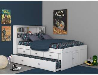 Birch Lane Birch LaneTM Heritage Fausto Bookcase Mate's & Captain's Bed with Trundle and Drawers Heritage Size: Full