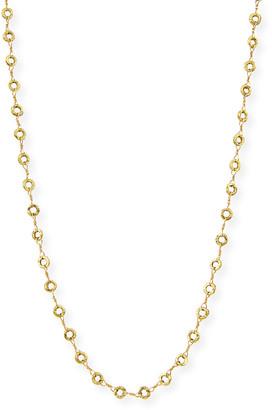 "Dominique Cohen Small Carved Opera Chain Necklace, 42"""