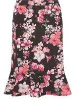 Dorothy Perkins Womens DP Curve Plus Size Floral Print Peplum Pencil Skirt- Black