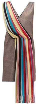 M Missoni Vintage-scarf Lame Mini Dress - Multi
