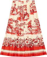 Gucci Porcelain Garden print silk skirt - women - Silk - 44