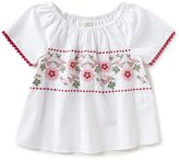 Copper Key Big Girls 7-16 Floral-Embroidered Woven Top