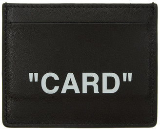 Off-White Black Quote Card Holder