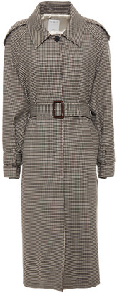 Sandro Checked Jacquard Trench Coat