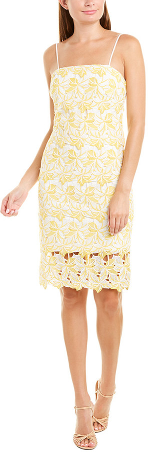 Betsey Johnson Two-Tone Lace Sheath Dress