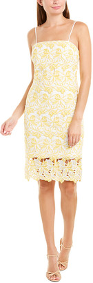 Betsey Johnson Two-Tone Lace Sheath Dress