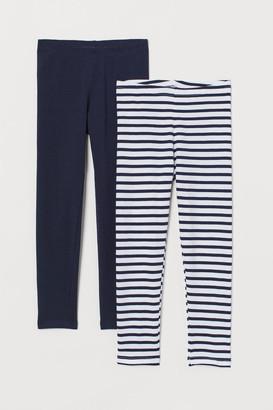 H&M 2-pack Cotton Leggings - White