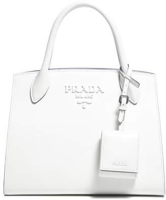Prada Monochrome Logo Tote Bag