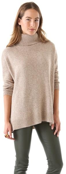 Joie Clover Marble Knit Turtleneck