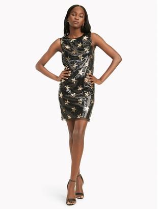 Tommy Hilfiger Sleeveless Star Sequin Dress