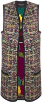 Etro embroidered open front vest