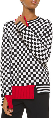 Michael Kors Cashmere Checkerboard-Jacquard Sweater