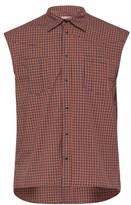 Boramy Viguier - Western Checked Sleeveless Cotton Shirt - Mens - White